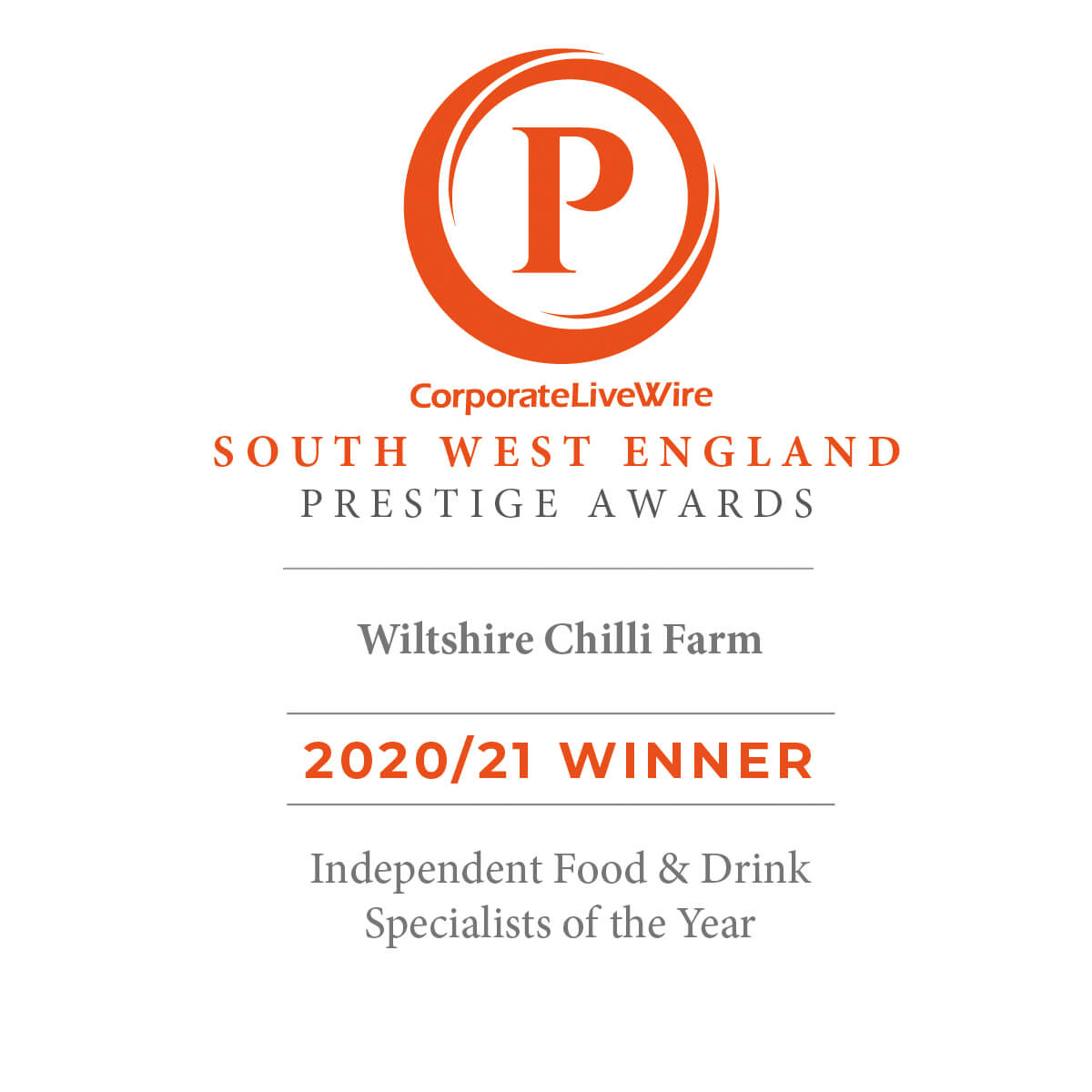 Wiltshire Chilli Farm - Independent Food and Drink Specialists of the Year 2021