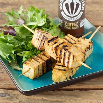 Wiltshire Chilli Farm - Marinated Chilli Tofu Skewers
